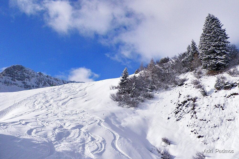 Snowy mountains by Adri  Padmos