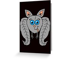 Goofy Bat Greeting Card