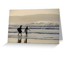 Body Surfing Greeting Card