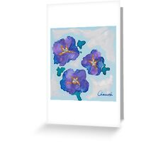 Blue Romance ~ Romantic Watercolor Painting by CHAUSSE Genevieve Greeting Card