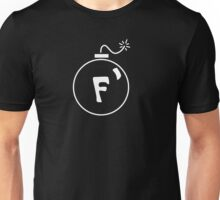 F Bomb in White Unisex T-Shirt