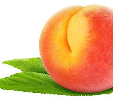 Peach on leaves by 6hands
