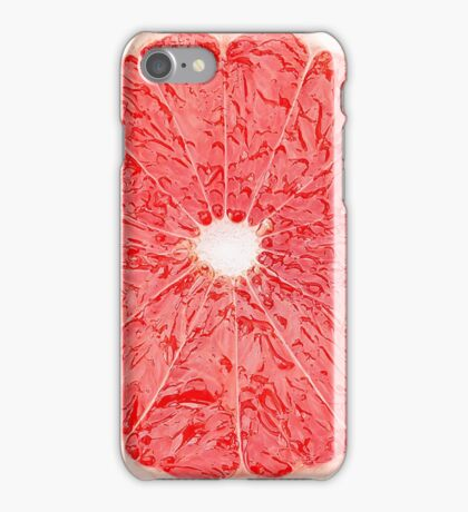 Slice of grapefruit iPhone Case/Skin