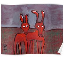 Two donkeys Poster