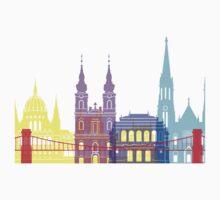 Budapest skyline pop Kids Clothes