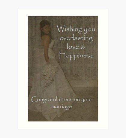 Wedding wishes for you Art Print