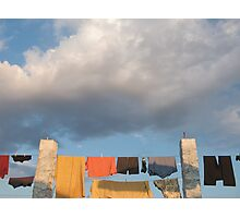 Pilgrim laundry Photographic Print
