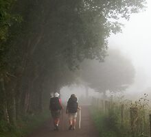 Pilgrims in the mist by Richard McCaig