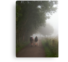 Pilgrims in the mist Canvas Print