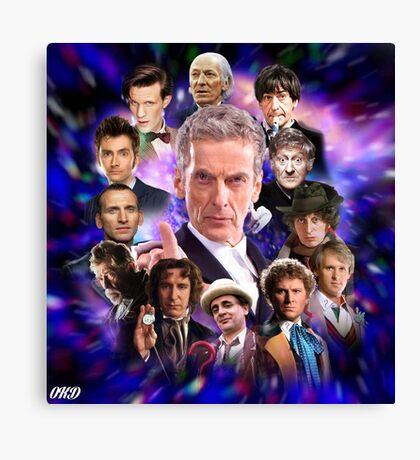 Doctor Who - Thirteen Doctors Canvas Print