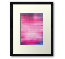 Pretty Abstract Pink Painting Framed Print