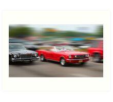 Classic car cruise Art Print