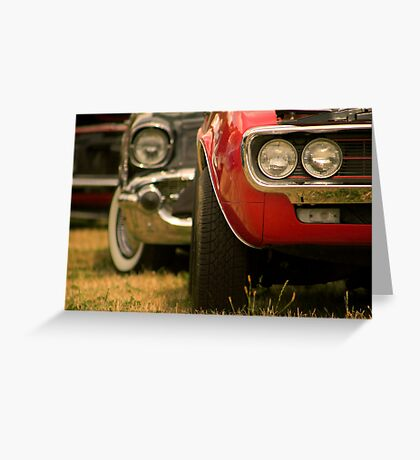 Muscle Cars In A Row Greeting Card