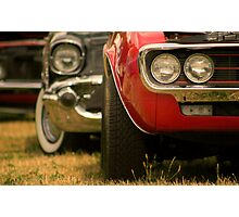 Muscle Cars In A Row Photographic Print