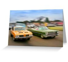 Muscle Cars Greeting Card