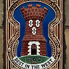 West Country brewery sign, UK. by David A. L. Davies