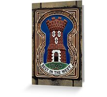 West Country brewery sign, UK. Greeting Card
