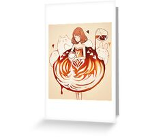 a caffè latte dress. Greeting Card