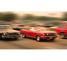 MUSCLE CAR RACE Photographic Print