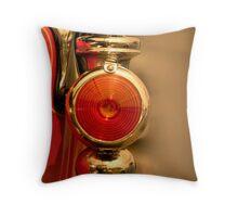 Vintage Car Lamp Throw Pillow