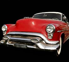 Red old chevy car by snehit