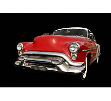 Red old chevy car Photographic Print