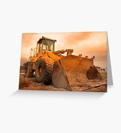 Construction Equipment Greeting Card