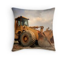 Construction Equipment Throw Pillow