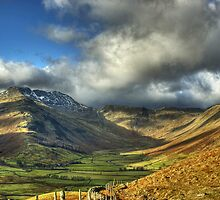 Langdale..After The Mist  by Jamie  Green