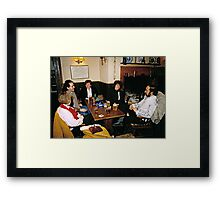 Cosy pub scene, England, 1980s. Framed Print