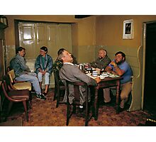 Cider drinkers, Somerset, England, 1980s Photographic Print