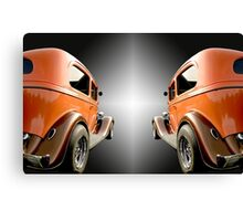 Two Classic Cars Canvas Print