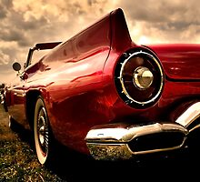 Close up shot of a vintage car by snehit