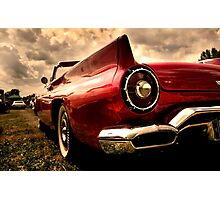 Close up shot of a vintage car Photographic Print
