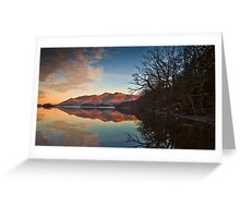 First light on Skiddaw Greeting Card