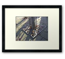 Autumn Carousel (leaves in radial grille, Burntisland) Framed Print