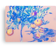 Lil' Orange Tree (pastel) Canvas Print