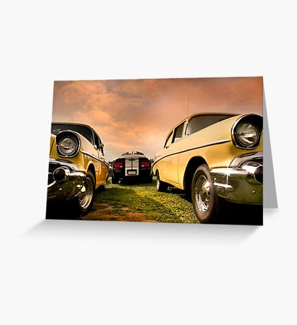 Two Muscle Cars Greeting Card
