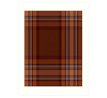 00324 Down County (District) Tartan  Art Print