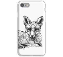 Fox Black Tonal Fineliner Drawing iPhone Case/Skin