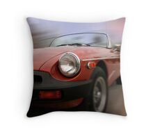 Fast Moving Car Throw Pillow