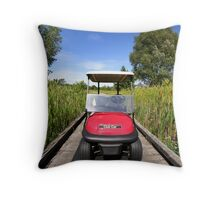 Golf Cart Throw Pillow