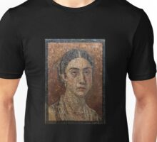 Female Portrait mosaic, Pompeii Unisex T-Shirt