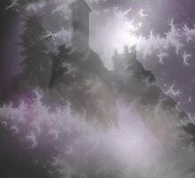 Mist castle in a stormy night by Margherita Bientinesi