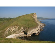 Gad Cliff From Worbarrow Tout Photographic Print