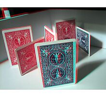 Cards (3d Anaglyph) Photographic Print