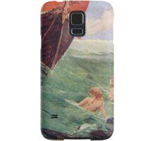 Mermaids luring Sailors to their death on the rocks Samsung Galaxy Case/Skin