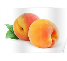 Two peaches Poster
