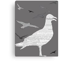 Free as a bird [on grey and light colors] Canvas Print