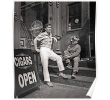 New York City: two men and store front Poster